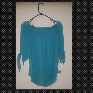 Women off shoulder blouse tie sleevesBCX Brand